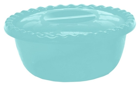Миска круглая 3л аквамарин с крышкой (М 1316)  Idea