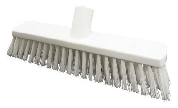 Щетка для подметания жесткая щетина 280х55мм в1877 W белая  Hillbrush
