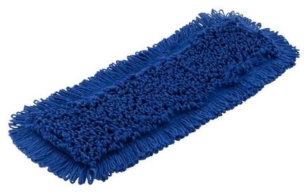 Насадка МОП плоский 40х13см ухо+карман хлопок синий Cn3065  A-VM