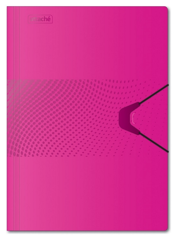 Папка на на резинке Attache Digital,розовый  Attache