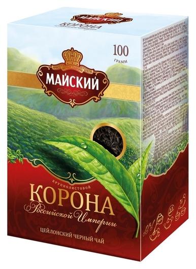 Чай майский корона российской империи (Крупнолистовой) 100 гр, 13984  Майский