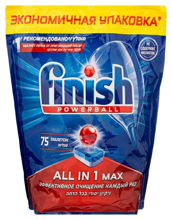 Таблетки для пмм Finish AIO 75 All In MAХ таблеток бесфосфатные 1122,5гр  Finish