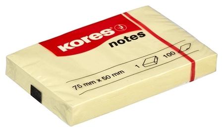 Блок-кубик Kores бум.для зам. 75х50 желтая 100л. ?46057  Kores