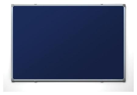 Доска для информации текстильная 90х120 синяя Attache россия  Attache