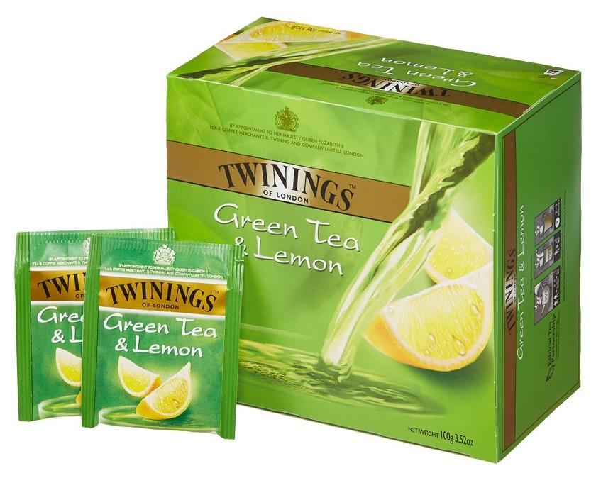 Чай Twinings Green Tea & Lemon зел. 50 пак/уп  Twinings