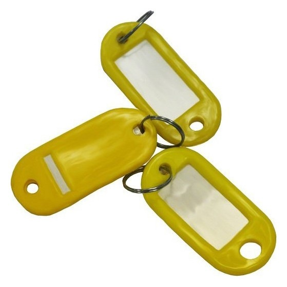 Бирки для ключей 10 шт/уп, желтая  NNB