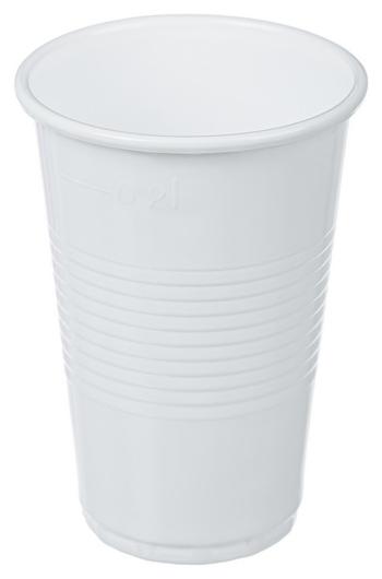 Стакан одноразовый 200мл белый, для хол/гор., комус ПП 100шт/уп Комус
