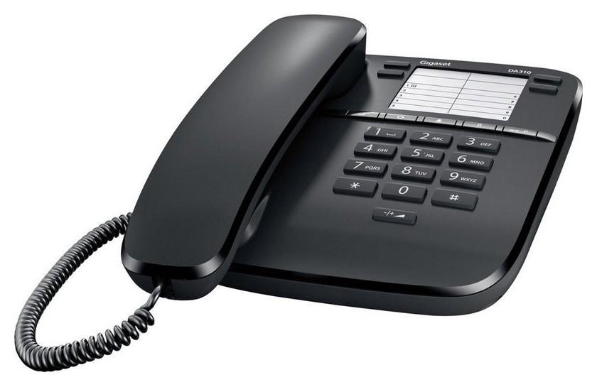 Телефон проводной Gigaset Da310 черный  Gigaset