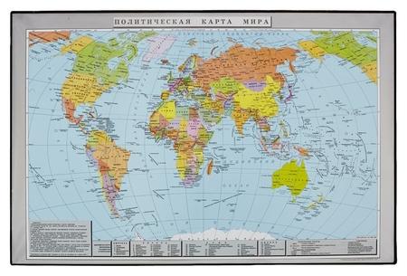 Коврик на стол Attache 38x58см политическая карта мира черный 2129.1  Attache