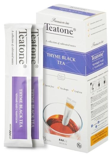 Чай Teatone черный с чабрецом в металл.стике 15шт/уп. 745  Teatone