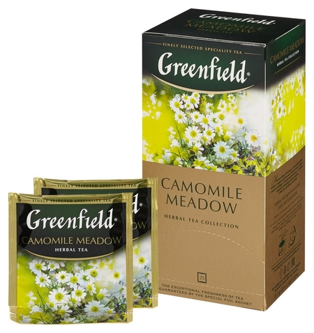 Чай Greenfield Camomile Meadow травяной 25пак 0523-10  Greenfield