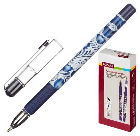 Ручка шариковая Attache гжель, маслян, син. стерж. Attache