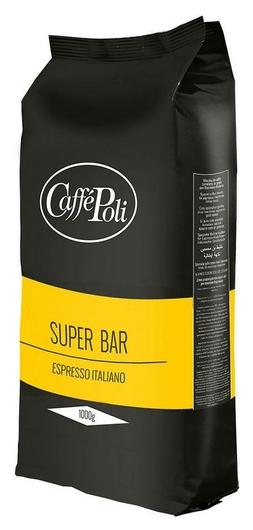 Кофе Caffe Poli Super Bar в зернах, 1 кг.  Caffe Poli