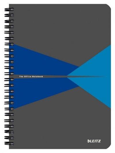 Бизнес-тетрадь А5, обложка картон, клетка, синий  Leitz