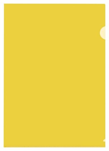 Папка уголок пу-001-пп 120мкр жест.пластик А4 желтая прозр. 20 шт/уп  Attache
