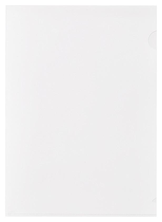 Папка уголок E-310 180мкр жест.пластик А4 бел.матов.россия 10шт/уп  Attache