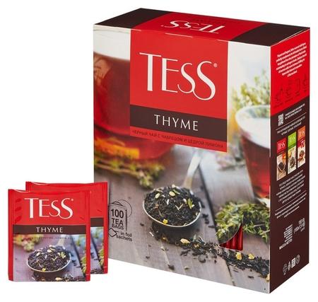 Чай черный Tess тайм с чебрецом и цедрой лимона 100 пак/уп  Tess