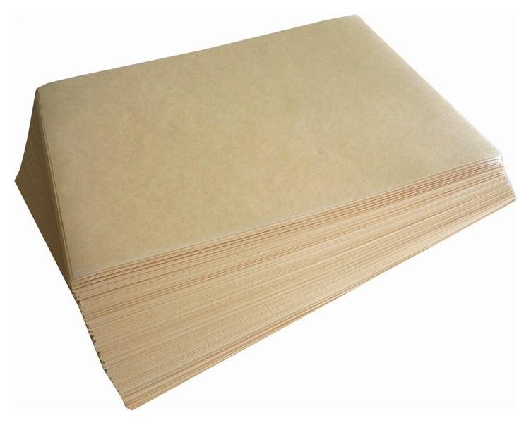 Бумага для выпечки резанная 40х60см 7 кг, марка А коричневого цвета 0085  Комус