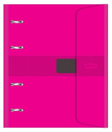 Бизнес-тетрадь со смен.блоком 120л,кл,а5, розовый,пропилен. обл. налипучке  Attache