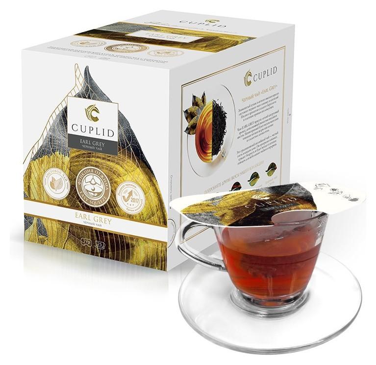 Чай Cuplid с бергамотом черн., 25 пак.  Cuplid