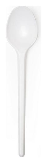 Ложка чайная одноразовая 125мм, белая, комус ПС 100 шт/уп  Комус