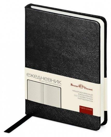 Ежедневник недатированный черный, А6, 87х130мм, 100л, Br.v.megapolis  Bruno Visconti