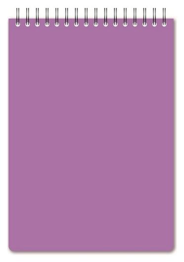 Блокнот а5,60л,кл,спир,пласт.обл,тонир.бл. Attache Bright Colours сиреневый  Attache