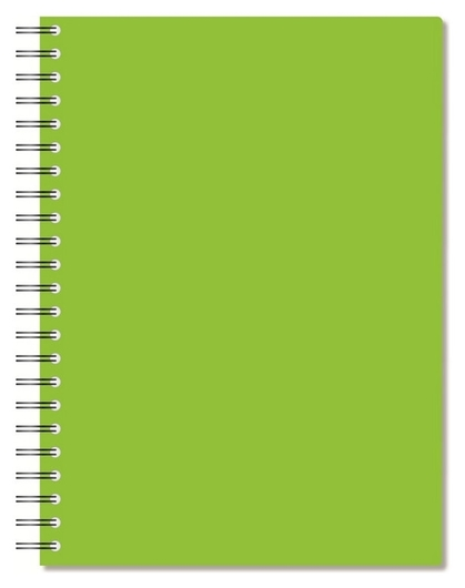 Бизнес-тетрадь а4,96л,кл,спир,пластик,тон.бл. Attache Bright Colours лайм  Attache