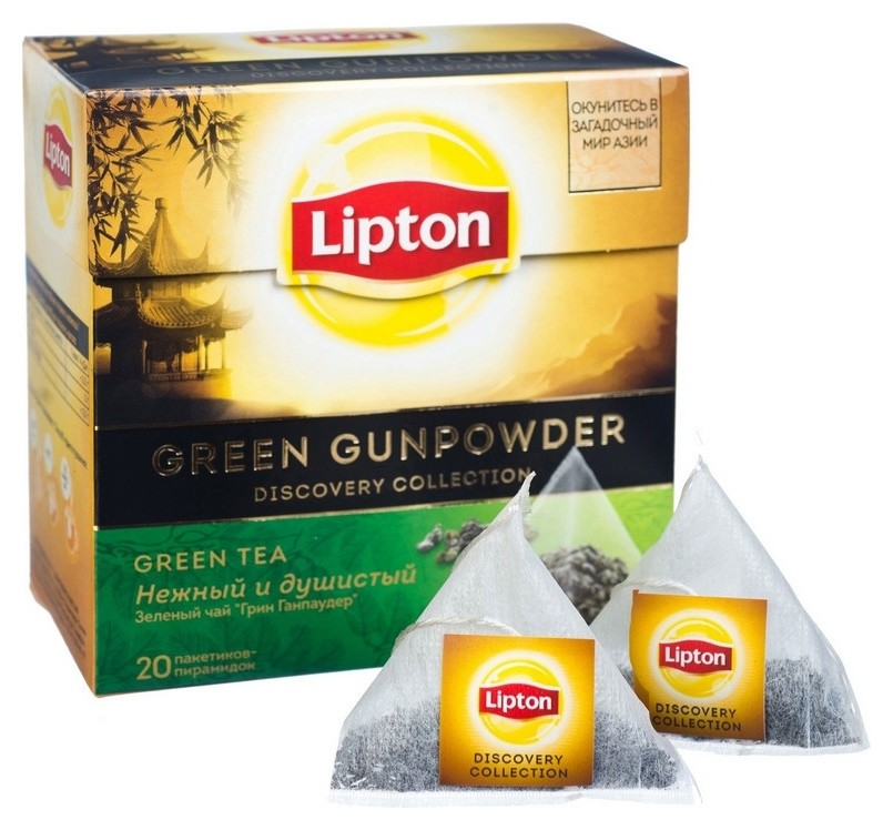 Чай Lipton Green Gunpowder зел.пирамидки 20 пак/уп  Lipton