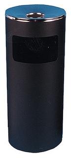 Урна-пепельница 30л металл, черная хром титан N52  NNB