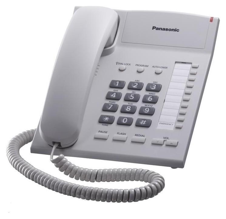 Телефон проводной Panasonic Kx-ts2382ruw белый  Panasonic