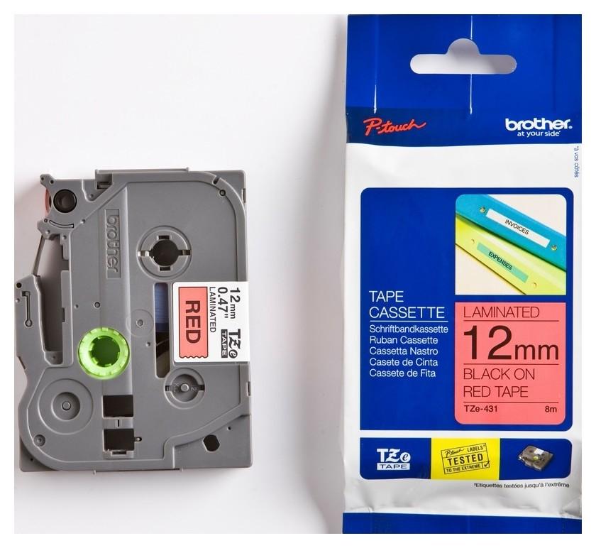 Картридж к этикет-принтеру Brother Tze-431 12ммх8м чер/красн лам P-touch Brother