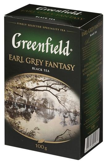 Чай черный Greenfield Earl Grey Fantazy листовой 100г 0426-14  Greenfield