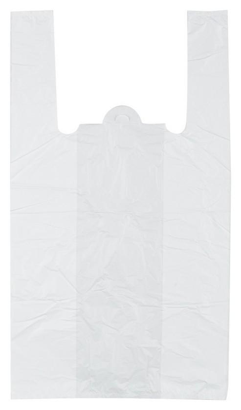 Пакет майка ПНД 30+18х55 15мкм 100шт./уп. белый  Знак качества