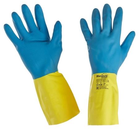 Перчатки защитные латекс/неопрен Manipula союз (Ln-f-05) р-р 8-8,5  Manipula