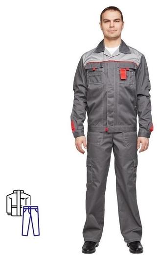 Спец.одежда летняя костюм л10-кбр т-сер/с-сер 52-54 170-176 NNB