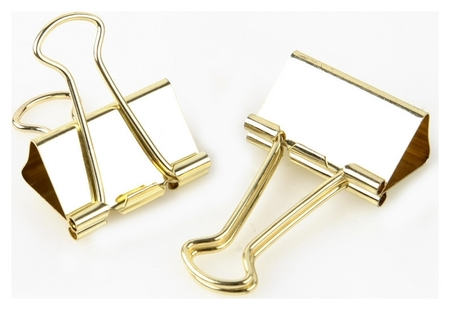 Зажим для бумаг Attache Selection, 32мм, золотые, 12 шт,пласт.уп.  Attache