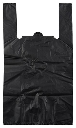 Пакет-майка усиленный,пнд., 40+18x70см.,черный,30мкм,50 шт./уп  NNB
