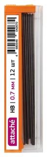 Стержень микрографический полимерный 0,7мм Attache HB 12 грифелей  Attache