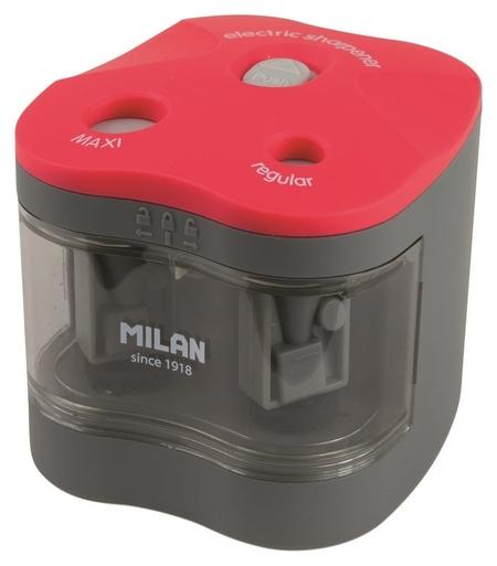 Точилка электрическая Milan, 2 отверстия, с батарейками, красная (Bwm10278)  Milan