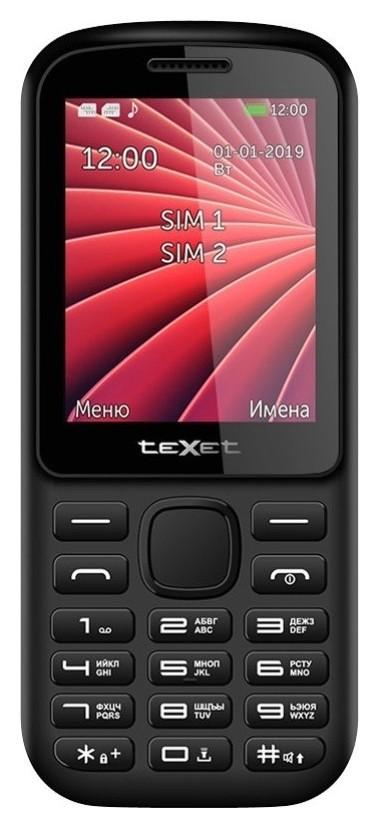 Мобильный телефон Texet 218-tm цвет черный-красный  teXet