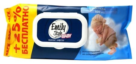 Салфетки влажные Emily Style детск 80+20 шт/уп с клапаном  Emily Style