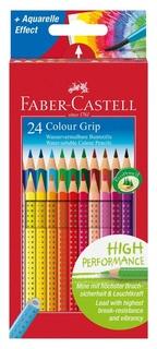 Карандаши цветные Faber-castell Grip, 24цв., трехгран., 112424  Faber-castell