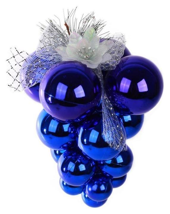 Украшение декоративное подвеска-кисть винограда 6cm+5cm+4cm+3cm, син 38105 NNB