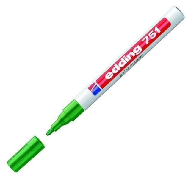 Маркер пеинт (Лак) Edding E-751/4 зелёный, 1-2мм, мет. корп.  Edding