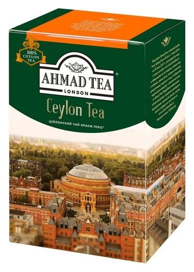 Чай Ahmad Ceylon Tea листовой черный оранж пеко, 200г 1289-012  Ahmad Tea