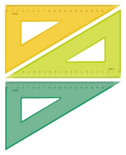 Линейка треугольник 18 см угол 30 градусов Neon Cristalтк-47  Стамм