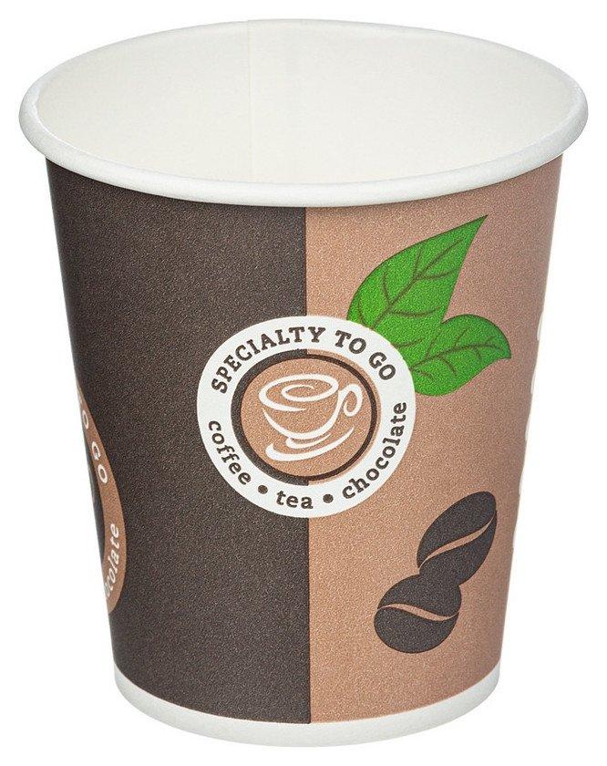 Стакан одноразовый бум однослойный D-80мм 200мл Coffee-to-go 50шт/уп  NNB