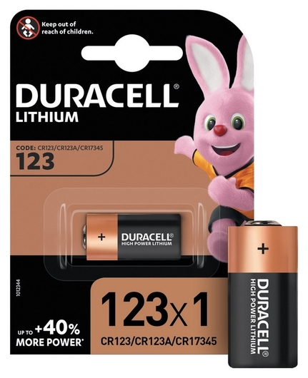 Батарейки Duracell Ultra Cr123 литий для фотоапп. бл/1шт  Duracell