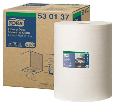Материал протирочный нетканый Tork W1/w2/w3 280лx1рул/кор, белый 530137  Tork